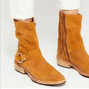 New Free People Vienna Suede Boots Tan Size 8
